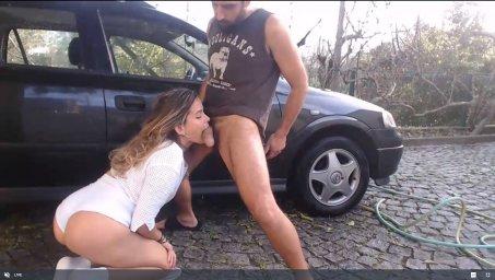 Ohhairylarry минет возле автомобиля