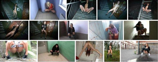Голая девушка нассала любимому под дверь